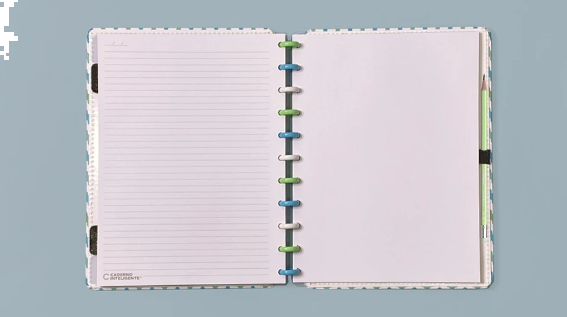 CADERNO INTELIGENTE CLAPPER GRANDE 80 FOLHAS WAVES