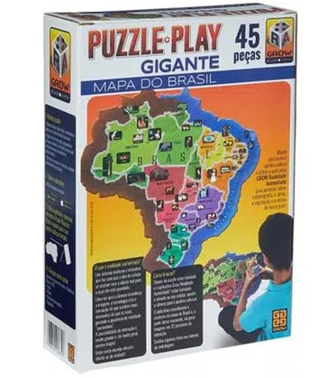 JOGO GROW PUZZLE PLAY GIGANTE MAPA DO BRASIL