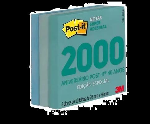 POST IT 3M RETRÔ NOTAS SUPER ADESIVAS EDIÇÃO ESPECIAL ANOS 2000
