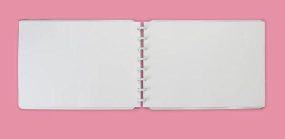 CADERNO INTELIGENTE SKETCHBOOK ROSE A4 30FOLHAS