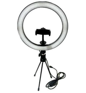 KIT LED RING FILL LIGHT PRETO 16CM