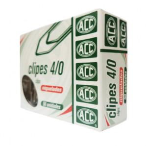 CLIPES NIQUELADOS ACC NÚMERO 4/0 COM 50 UNIDADES