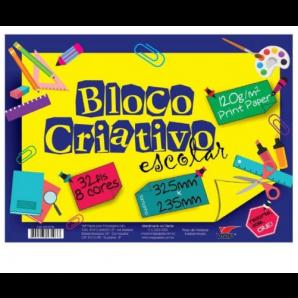 BLOCO CRIATIVO ESCOLAR VMP 32 FOLHAS
