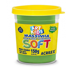 MASSINHA DE MODELAR SOFT 150G ART KIDS VERDE ACRILEX