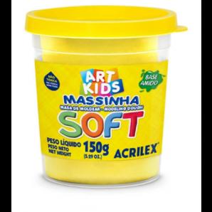 MASSINHA DE MODELAR SOFT 150G ART KIDS AMARELO LIMÃO ACRILEX