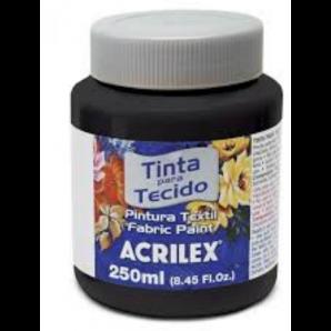 TINTA PARA TECIDO 250ML ACRILEX 520 PRETO