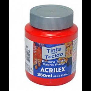 TINTA PARA TECIDO 250ML ACRILEX 507 VERMELHO