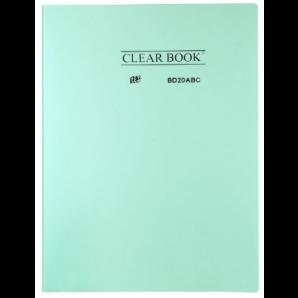 PASTA CATÁLOGO CLEAR BOOK YES VERDE PASTEL COM 20 SACOS PLÁSTICOS