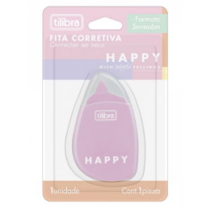 FITA CORRETIVA TILIBRA HAPPY PASTEL COLORS
