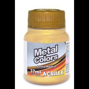 TINTA ACRÍLICA METÁLICA 37ML METAL COLORS ACRILEX 532 OURO