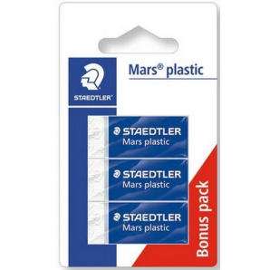 BORRACHA BRANCA STAEDTLER MARS PLASTIC COM 3 UNIDADES