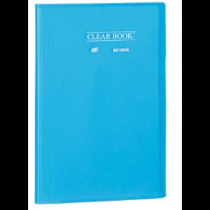 PASTA CATÁLOGO CLEAR BOOK YES AZUL COM 10 SACOS PLÁSTICOS