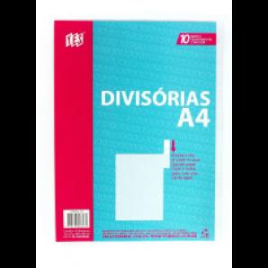 DIVISÓRIAS COM VISOR A4 YES CRISTAL COM 10 UNIDADES