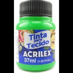 TINTA PARA TECIDO 37ML ACRILEX 101 VERDE FLUORESCENTE