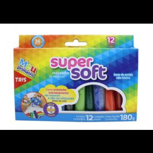 MASSA DE MODELAR TRIS SUPER SOFT COM 12 UNIDADES