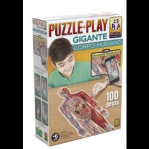 JOGO GROW PUZZLE PLAY GIGANTE CORPO HUMANO