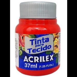 TINTA PARA TECIDO 37ML ACRILEX 583 VERMELHO TOMATE