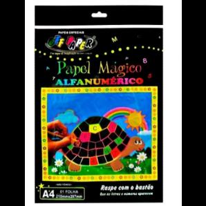 PAPEL MÁGICO OFF PAPER ALFANUMÉRICO + BASTÃO