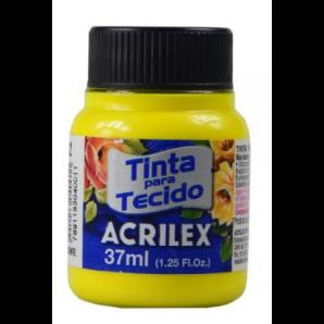 TINTA PARA TECIDO 37ML ACRILEX 102 AMARELO LIMÃO FLUORESCENTE