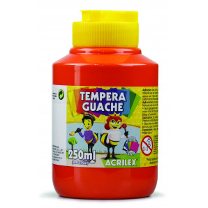 TINTA GUACHE 250ML ACRILEX 507 VERMELHO FOGO