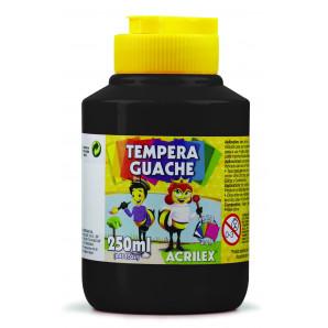 TINTA GUACHE 250ML ACRILEX 520 PRETO