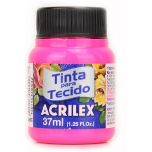 TINTA PARA TECIDO 37ML ACRILEX 107 MARAVILHA FLUORESCENTE