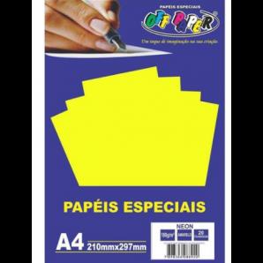PAPÉIS ESPECIAIS OFF PAPER AMARELO NEON COM 20 FOLHAS