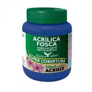 TINTA ACRÍLICA FOSCA 250ML ACRILEX 501 AZUL TURQUESA