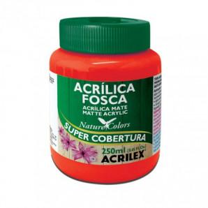 TINTA ACRÍLICA FOSCA 250ML ACRILEX 507 VERMELHO FOGO