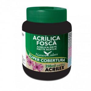 TINTA ACRÍLICA FOSCA 250ML ACRILEX 520 PRETO