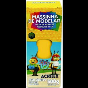 MASSINHA DE MODELAR 500G ACRILEX AMARELO OURO
