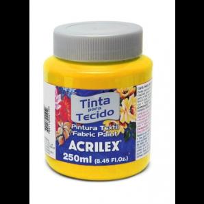 TINTA PARA TECIDO 250ML ACRILEX 505 AMARELO OURO