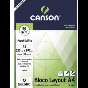 BLOCO PAPEL CANSON LAYOUT TÉCNICO COM 50 FOLHAS