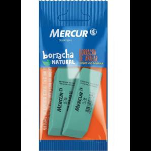 BORRACHA MERCUR CLEAN VERDE COM 2 UNIDADES