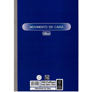 MOVIMENTO DO CAIXA OFÍCIO TILIBRA COM 100 FOLHAS