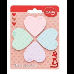 BLOCO DE NOTAS ADESIVAS LOVE MOLIN