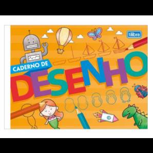 CADERNO DE DESENHO CAPA FLEXÍVEL TILIBRA ACADÉMIE KIDS 40 FOLHAS