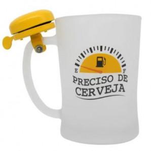 CANECA CAMPAINHA PRECISO DE CERVEJA 650ML ZONACRIATIVA