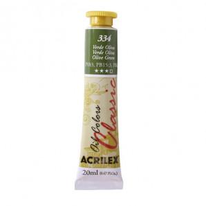 TINTA OIL COLORS CLASSIC ACRILEX 334 VERDE OLIVA 20ML