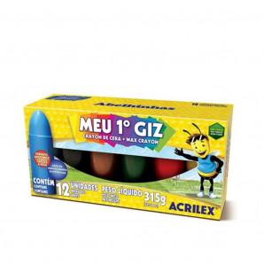 GIZÃO DE CERA MEU PRIMEIRO GIZ ACRILEX COM 12 UNIDADES