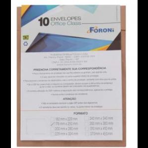 ENVELOPE PARDO FORONI 17X25 COM 10 UNIDADES