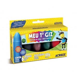 GIZÃO DE CERA MEU PRIMEIRO GIZ ACRILEX COM 6 UNIDADES