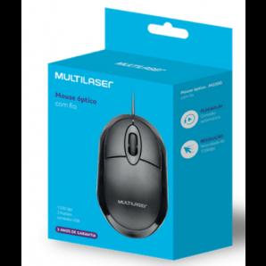 MOUSE CLASSIC BOX ÓPTICO USB MULTILASER MO300