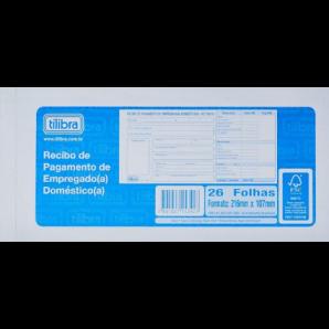 RECIBO DE PAGAMENTO DE EMPREGADO (A) DOMÉSTICO (A) TILIBRA COM 26 FOLHAS
