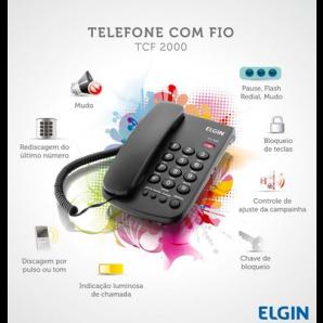 TELEFONE COM FIO TCF 2000 ELGIN