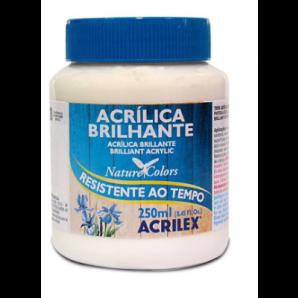 TINTA ACRÍLICA BRILHANTE  250ML ACRILEX 519 BRANCO