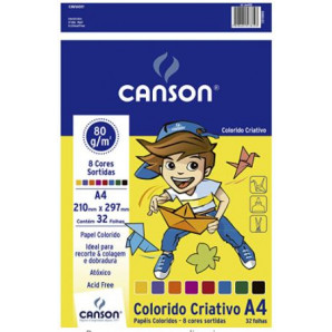 BLOCO CRIATIVE PAPER CANSON 32 FOLHAS