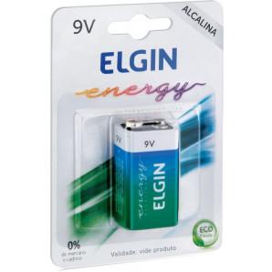 PILHA ALCALINA 9V ELGIN ENERGY