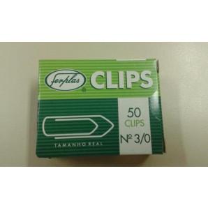 CLIPS FERPLAS NÚMERO 3/0 COM 50 UNIDADES