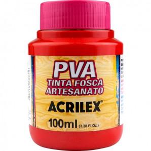 TINTA PLASTICA PVA ACRILEX 100ML 507 VERMELHO
